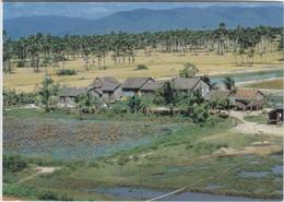 1479 VILLAGE CAMBODGIEN - CARTE DOUBLE - Cambodge