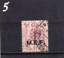 1942 Occupation Of Italian Colonies MEF Overprint 6d Used - Great Britain (former Colonies & Protectorates)