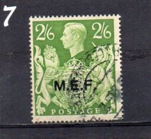 1942 Occupation Of Italian Colonies MEF Overprint 2/6 Used - Great Britain (former Colonies & Protectorates)