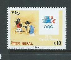 Nepal 1984 Los Angeles Olympic Games 10R Boxing Single MNH - Nepal