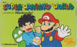 Télécarte Japon / 110-011 - NINTENDO - MARIO ** SUPER WANPAKU WORLD ** - Manga Jeu Video Game Japan Phonecard - 11087 - Comics