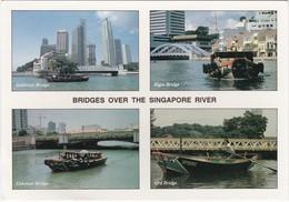 1482 SINGAPORE - 4 BRIDGES OVER THE SINGAPORE RIVER - Singapour