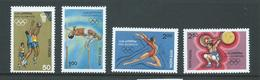 India 1984 Los Angeles Olympic Games Set Of 4 MNH - India