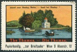 Austria England The Thames River Island Near Henley, Berks. Die Themse BOAT Boot Bateau Poster ** Vignette Reklamemarke - Bateaux