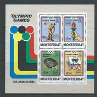 Montserrat 1984 Los Angeles Olympic Games Miniature Sheet MNH - Montserrat