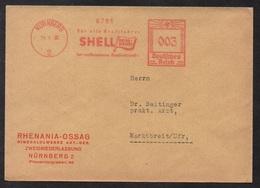 PETROLE - ENERGIE - SHELL / 1936 ALLEMAGNE - III REICH EMPREINTE DE MACHINE A AFFRANCHIR SUR LETTRE (ref LE2564) - Pétrole
