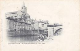 CPA 86 @ MONTMORILLON @ Eglise Notre Dame Et Le Vieux Pont Avant 1905 - Lavandières @ Edition Arambourou - Montmorillon