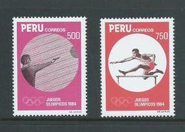 Peru 1984 Los Angeles Olympic Games Set Of 2 MNH - Peru