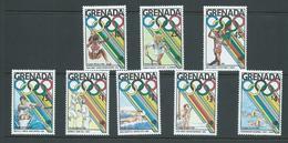 Grenada 1988 Seoul Olympic Games Medal Winners Set Of 8 MNH - Grenada (1974-...)
