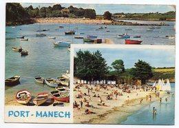 NEVEZ--1971--Port Mane'ch--La Plage  (2 Vues)...............timbre--cachet........à Saisir - Névez