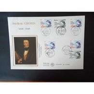 FDC Grand Format -  France Pologne, Frédéric Chopin, Oblit 17/10/99 - 1990-1999