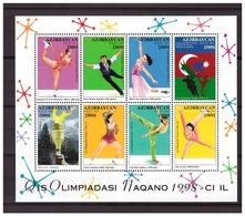 Azerbaijan 1998 Olympics Ice-dance S/S MNH - Winter 1998: Nagano