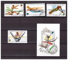 Bulgaria 1992 Olympics Barcelona Swimming Athletics Rowing + S/S Used - Zomer 1992: Barcelona
