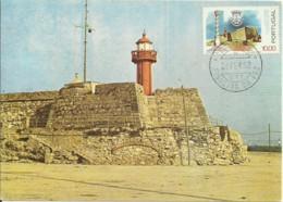 Cartes Maximum - Portugal - Phare - Lighthouse - Farol Do Forte De Santa Catarina - Figueira Da Foz - Lighthouses