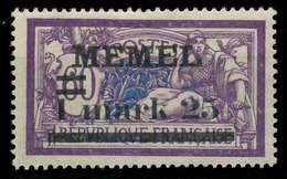 MEMEL 1920 Nr 27y Ungebraucht X8863C6 - Memel (Klaïpeda)