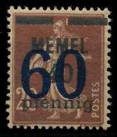 MEMEL 1921 Nr 35 Ungebraucht X8863F6 - Memel (Klaïpeda)
