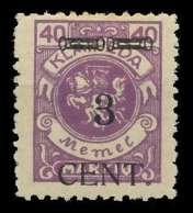 MEMEL 1923 Nr 178III Ungebraucht X89C872 - Memel (Klaïpeda)