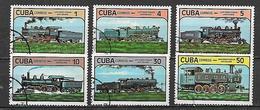 CUBA 1984 VECCHIE LOCOMOTIVE YVERT. 2551-2556 USATA VF - Cuba