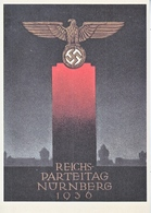 Propaganda Card  Reproduction 1936 Nurnburg Rally - War 1939-45