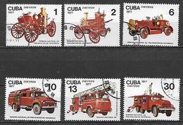 CUBA 1977 VETTURE DEI POMPIERI YVERT. 2010-2015 USATA VF - Cuba