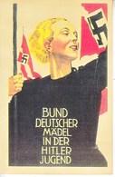 Propaganda Card  Reproduction   Maiden Of The Hitler Youth - War 1939-45