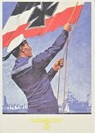 Propaganda Card  Reproduction   Navy Battle Flag - War 1939-45