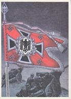 Propaganda Card  Reproduction  Artillery Battle Flag - War 1939-45