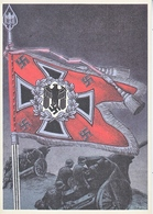 Propaganda Card  Reproduction  Artillery Battle Flag - Briefe U. Dokumente