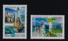 """2014 RUSSIA """"REGIONI DELLA RUSSIA / CRIMEA E SEBASTOPOLI"""" COPPIA SINGOLI MNH* - 1992-.... Federación"""