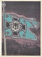 Propaganda Card  Reproduction   Battle Flag - War 1939-45