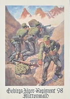Propaganda Card  Reproduction   98 Th Mountain Regiment - War 1939-45
