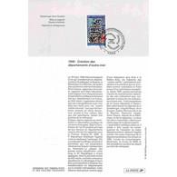 1996 Notice Philatélique - Création Des Départements D'outre-mer - Documents De La Poste