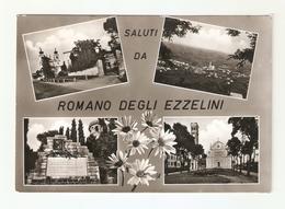 CT--02846-- SALUTI DA ROMANO DEGLI EZZELINI(VICENZA) 4 VEDUTINE-VIAGGIATA 1963 - Italia