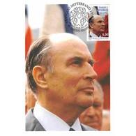 Carte Premier Jour - François Mitterrand - 4/1/1997 Château Chinon - 1990-99