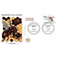 FDC JF - Protection De La Nature - L'Abeille - 31/3/1979 Paris Et Evians Les Bains - FDC