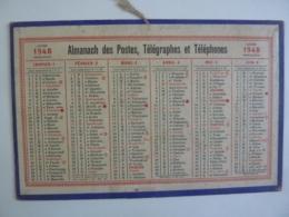 ALMANACH 1948 CALENDRIER  SEMESTRIEL  DES POSTES     Chem 3-8 - Calendriers