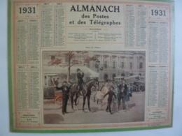 ALMANACH 1931  CALENDRIER  DES POSTES  ALLEGORIE Place Opéra  , Plan Paris  Imp Berthur, Rennes Chem 3-10 - Grand Format : 1921-40