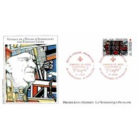 FDC LNF Mod 2 - Croix Rouge 1981 - Vitraux De Fernand Léger - 5/12/1981 Audincourt/Argentan - FDC