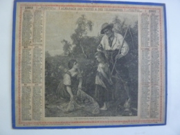ALMANACH 1903 CALENDRIER  DES POSTES TABLEAU  De PABST UNE TROUVAILLE   Feuillets Organisation Et Notions  Chem 3-13 - Calendars