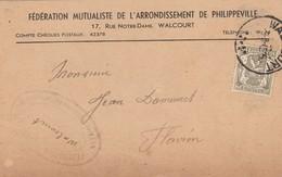 Fédération Mutualiste Arrond. Philippeville à Walcourt,Réquisitoire : Hopital Ste Camille Namur Pour Delcourt De Flavion - Walcourt