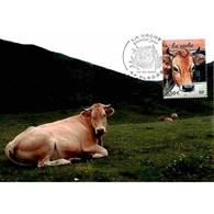 CM CEF - La Vache - 24/4/2004 Plesse - Cartes-Maximum