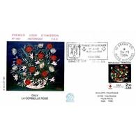 FDC N° 1401 - Croix Rouge 84, Tableau De Caly - 24/11/1984 Grasse + Flamme - FDC