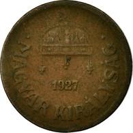 Monnaie, Hongrie, 2 Filler, 1927, Budapest, TB+, Bronze, KM:506 - Hongrie