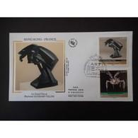 FDC Soie - France - Hong Kong, Le Grand Cheval,Duchamp Villon, Oblit 3/5/12 Paris - FDC