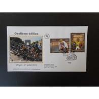 FDC Soie - (2 Sur 4) 100e édition Du Tour De France, Oblit 29/6/13 Paris - FDC