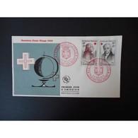 FDC - Croix Rouge 59, Les Deux Valeurs - Oblit Châlons Sur Marne 5 Et 6 /12/59 - FDC