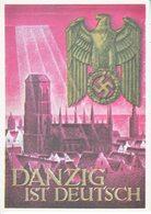 Propaganda Card  Reproduction DANZIG  IS  GERMAN - War 1939-45