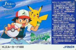 Carte Japon - NINTENDO POKEMON - Pocket Monsters Pikachu - Jeu Video Game Japan JR J Card - 11117 - BD