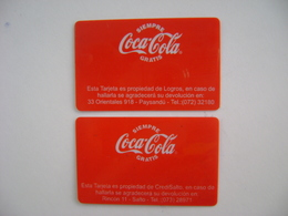 COCA-COLA - 2 ADVERTISING CARDS OF URUGUAY IN THE STATE - Autres Collections