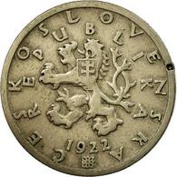 Monnaie, Tchécoslovaquie, 50 Haleru, 1922, TB+, Copper-nickel, KM:2 - Tchécoslovaquie
